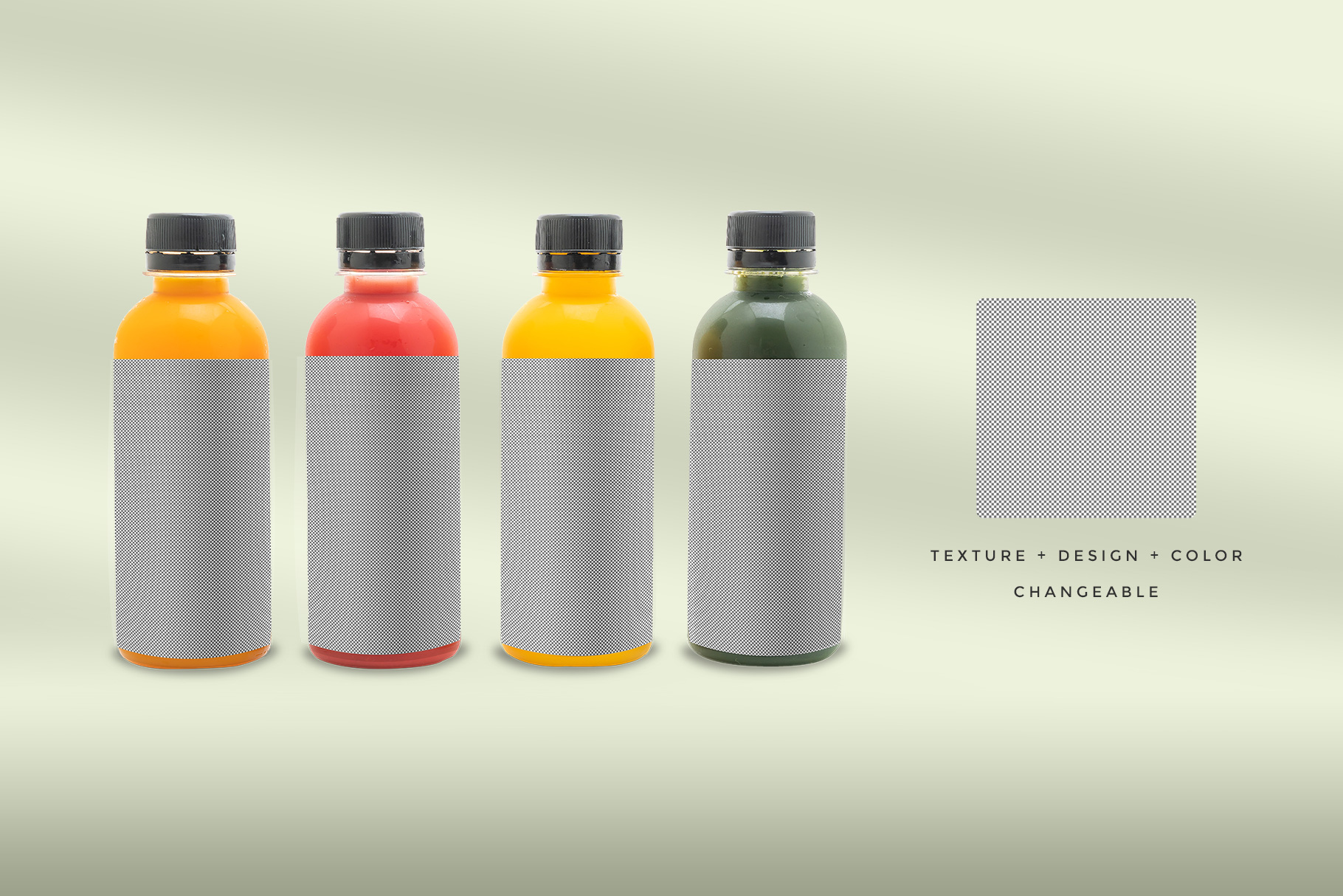 editability of the plastic health drink bottles packaging mockup