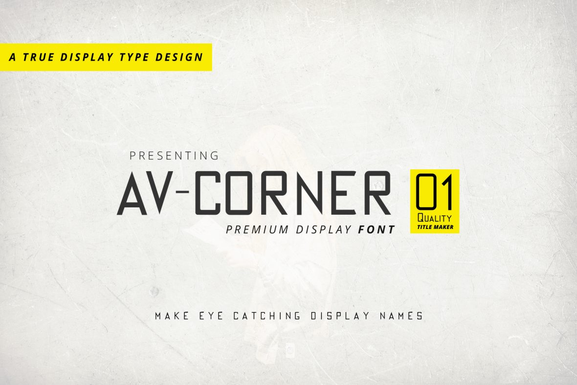av corner regular font file image preview 1