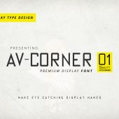 AV Corner Tall And Thin Title Making Font