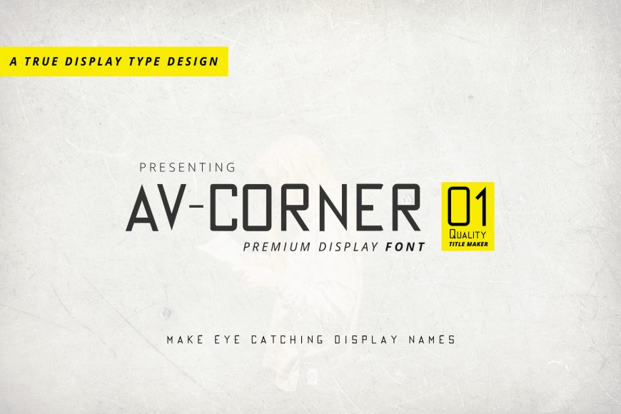 av corner regular font file image preview 1