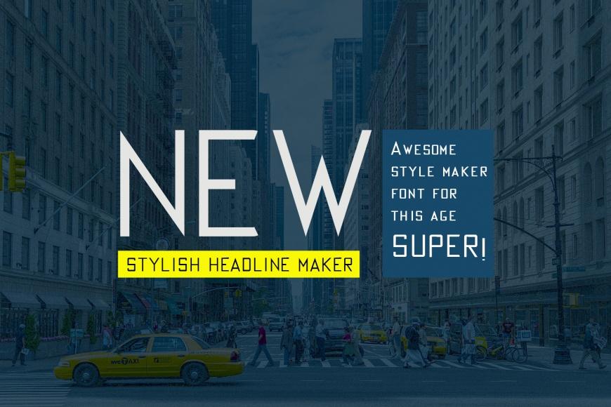 AV Corner Tall And Thin Title Making Font | | Designertale