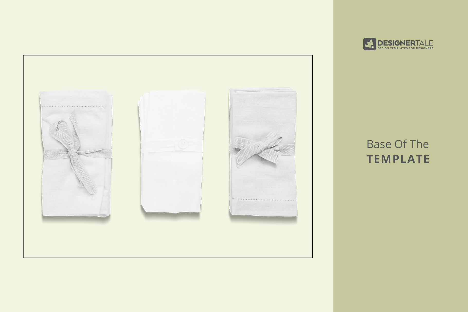 raw image of view rolled linen dinner napkin mockup