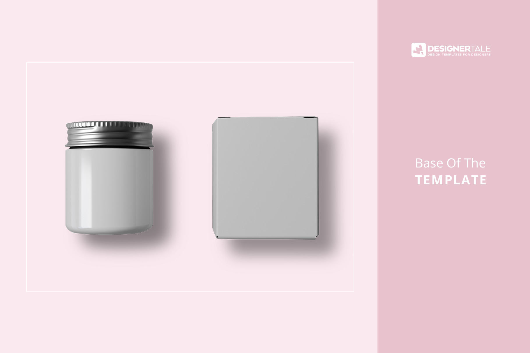 base image of the top view cosmetic bottle and box packaging mockup