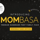 Mombasa Hand Drawn Font Family Pack