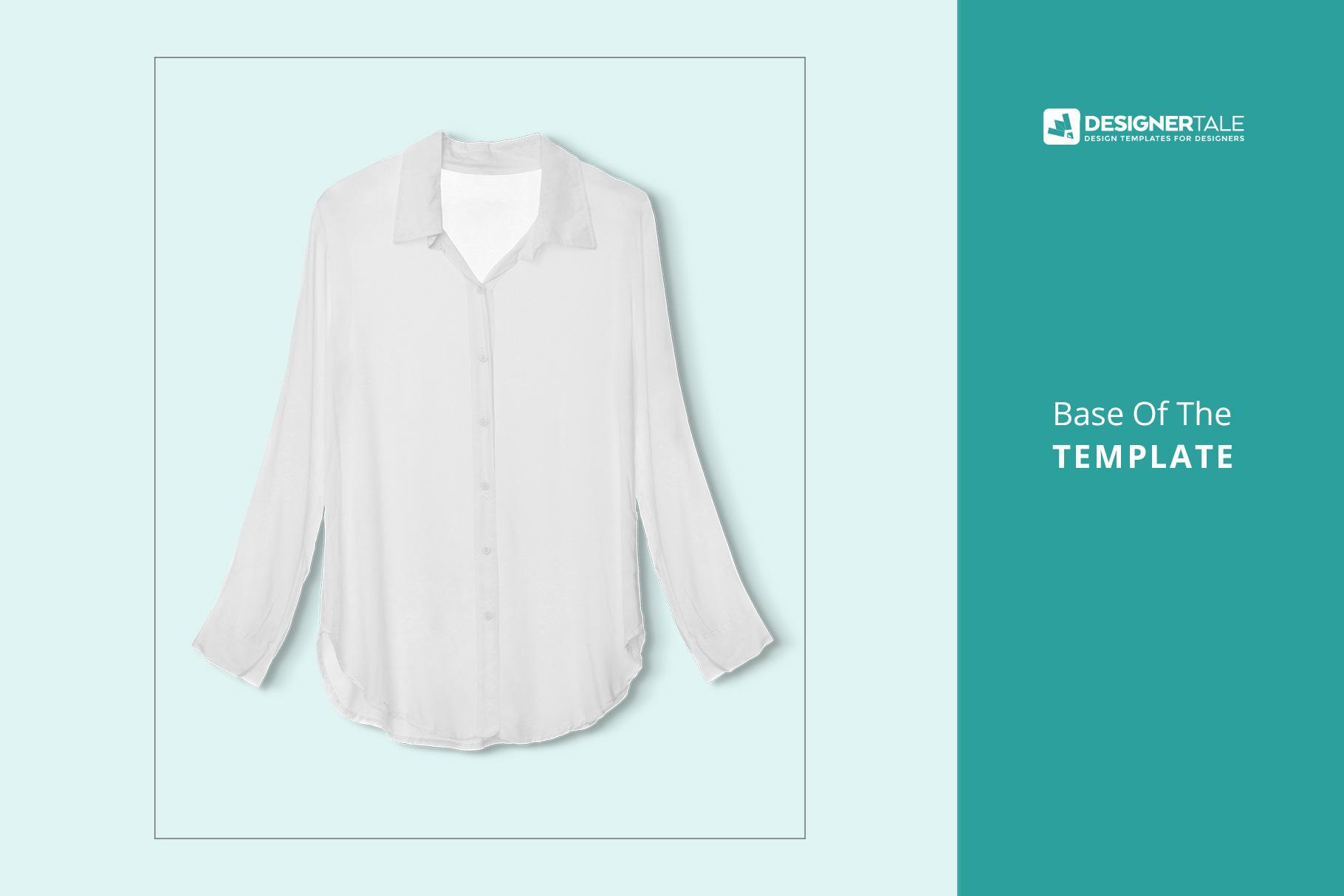 base of the female long sleeve shirt mockup