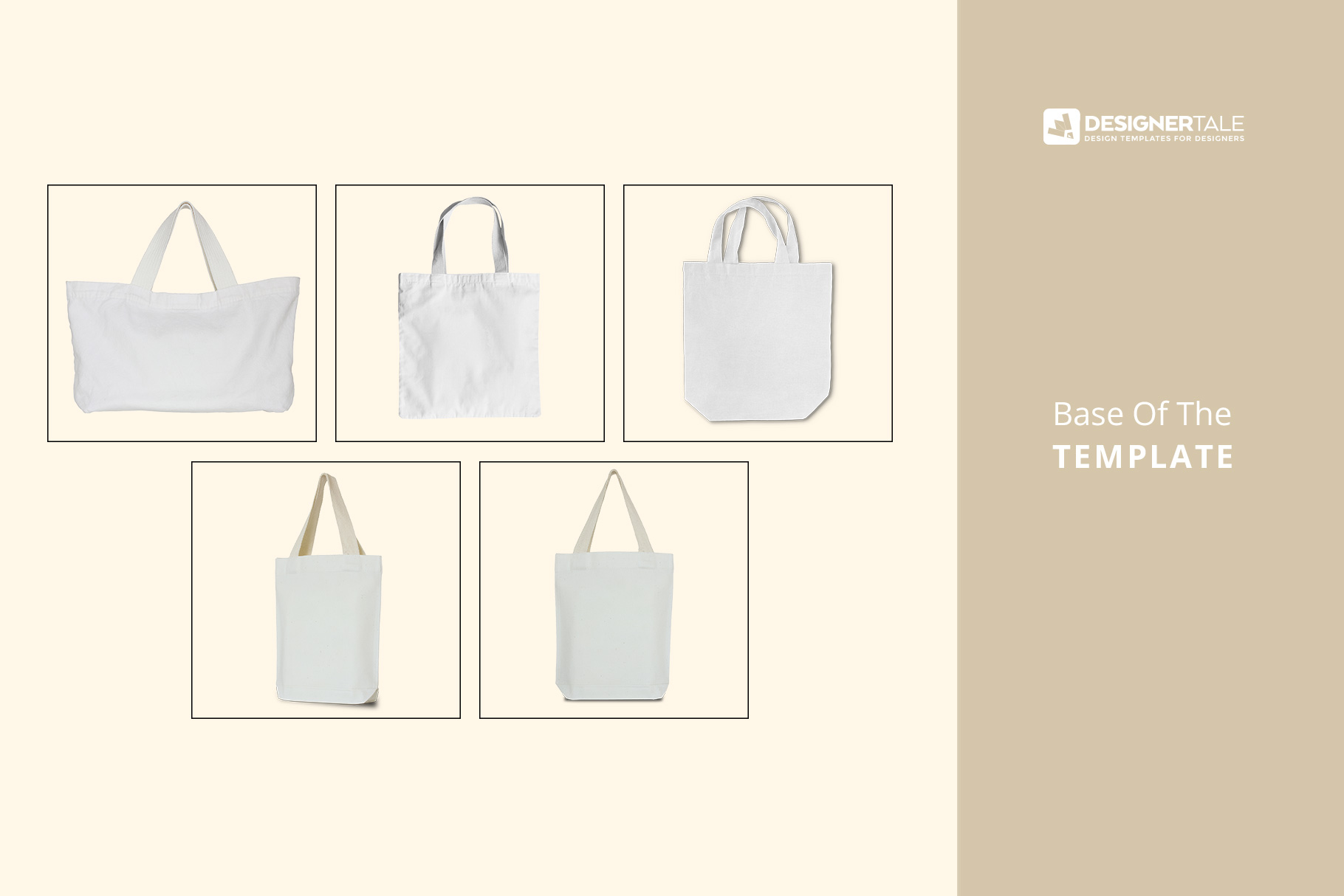 raw images used to create the tote bag mockup set