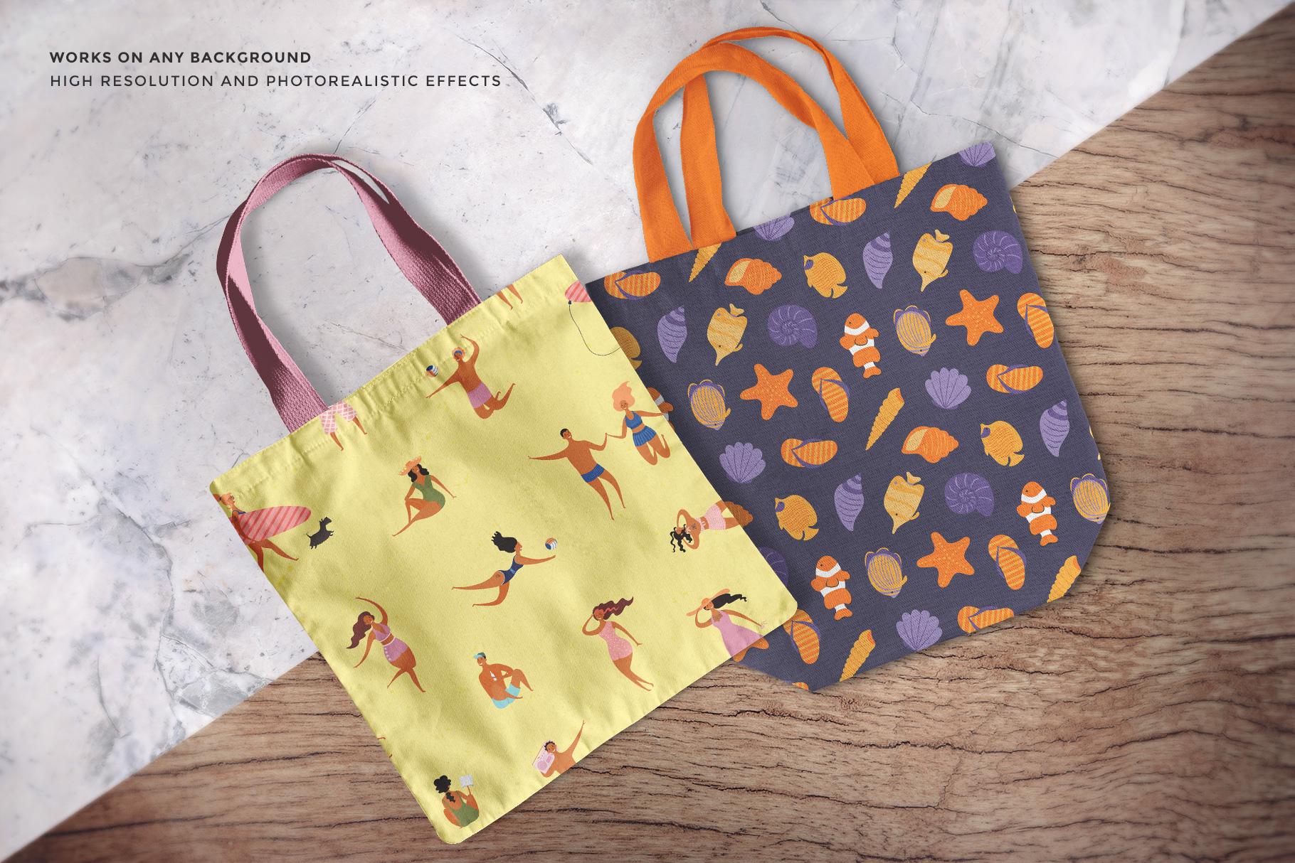 tote bag mockup set image preview of the tote bags