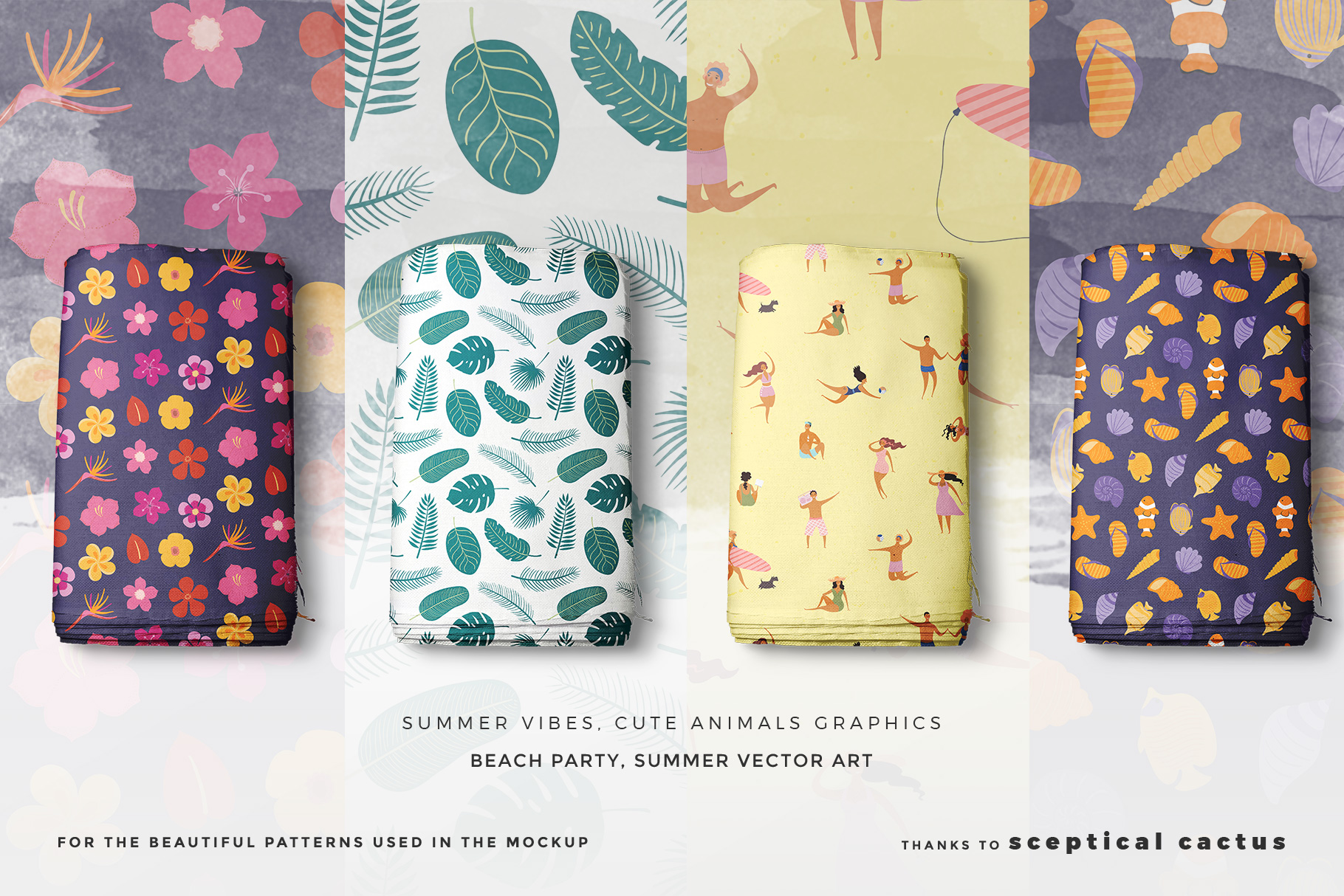 designers credit of the top view fabric rolls mockup set