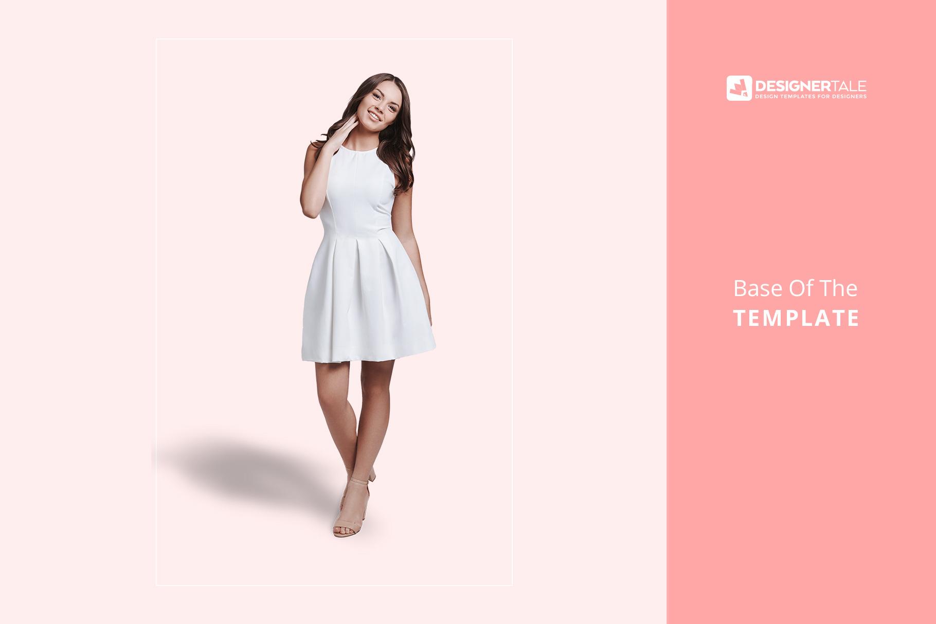 base image of the female short party dress mockup