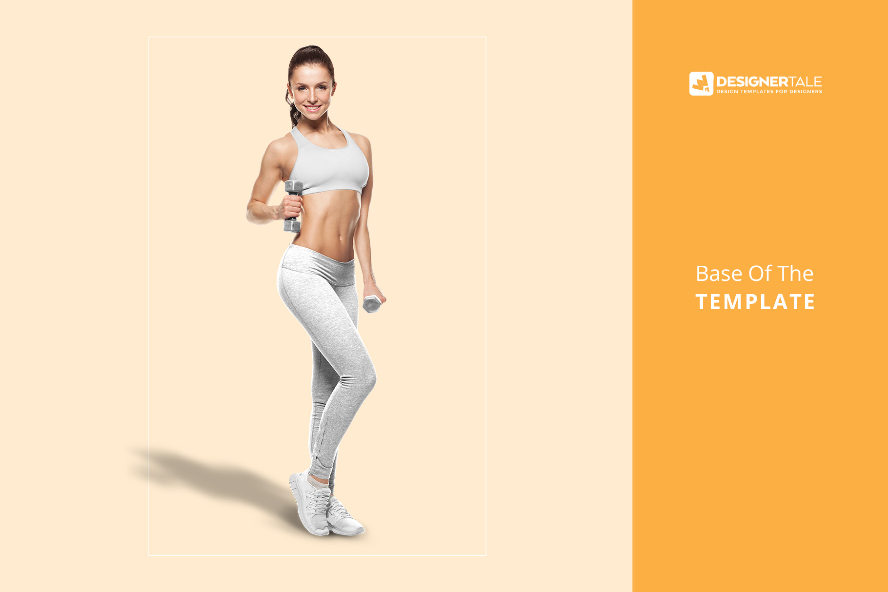 base image of the female fitness outfit mockup