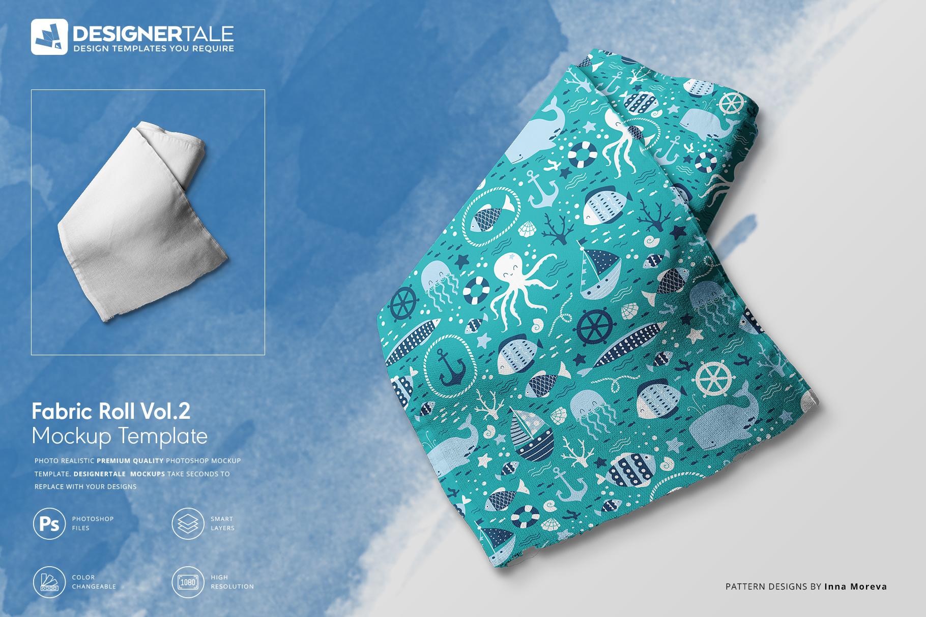 Fabric Roll Mockup Vol.2