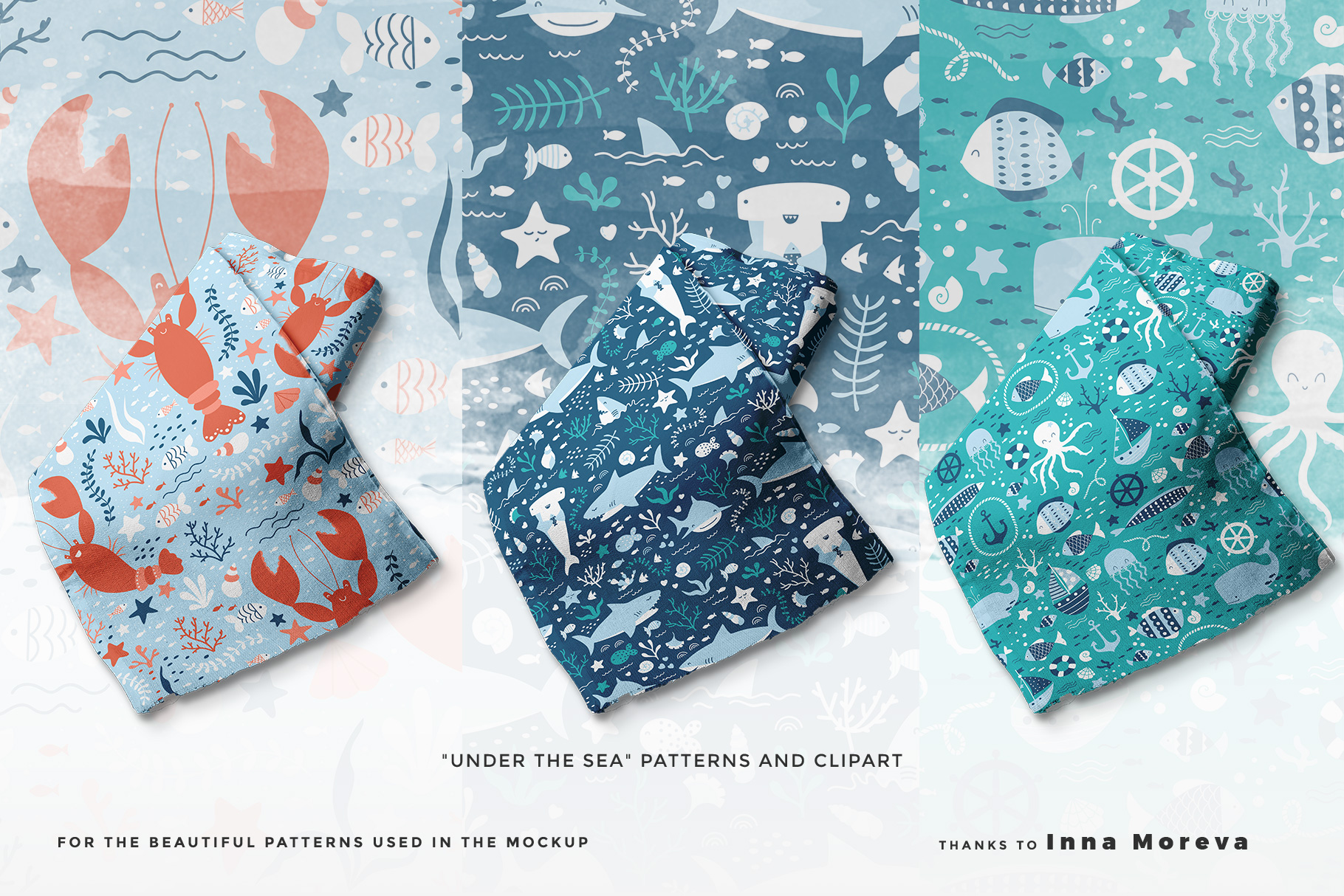 designer's credit of the fabric roll mockup vol.2
