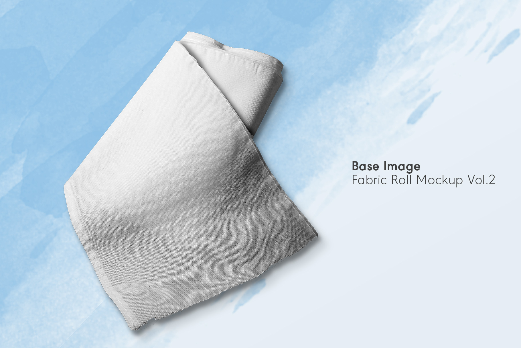 base image of the fabric roll mockup vol.2