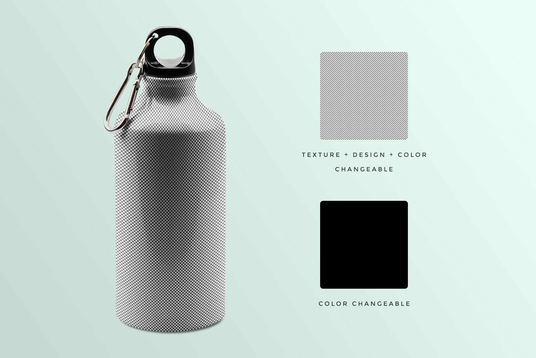 editability of the stainless sports water bottle mockup
