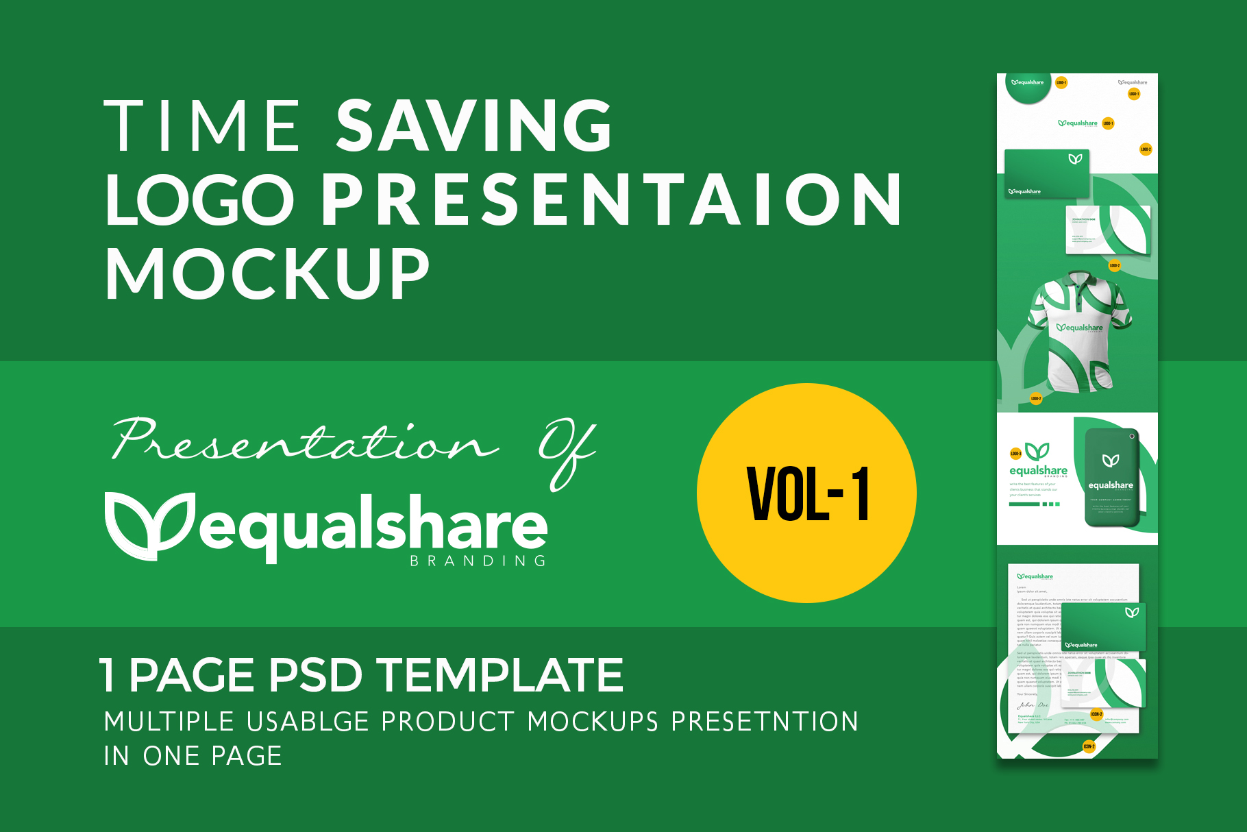 one page logo presentation template in just 3 minutes