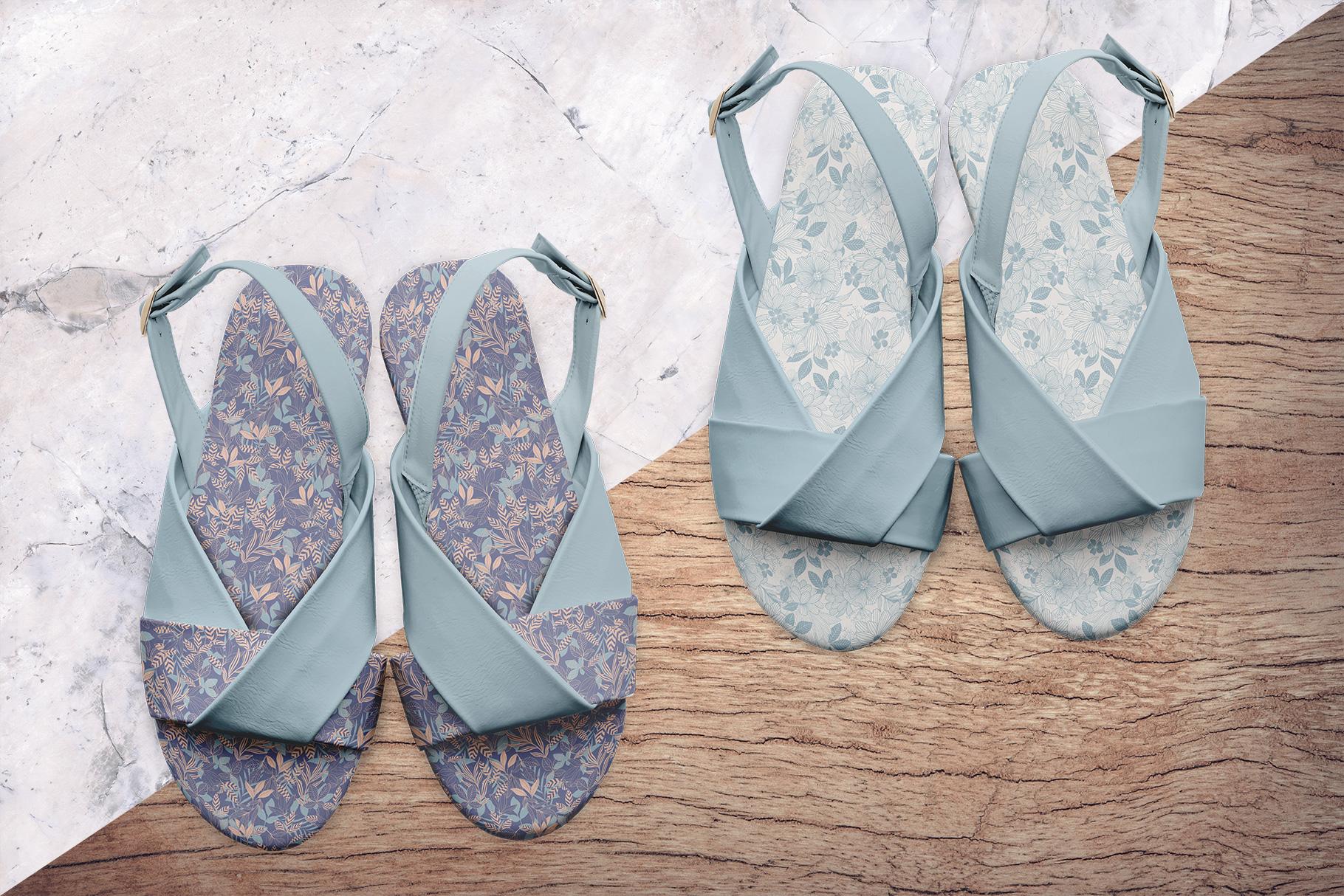 background options of the women's slingback sandal mockup