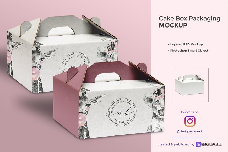 cake box packaging mockup