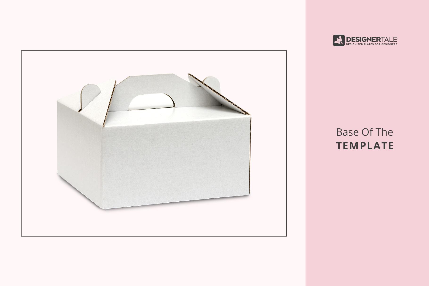 base image of the cake box packaging mockup
