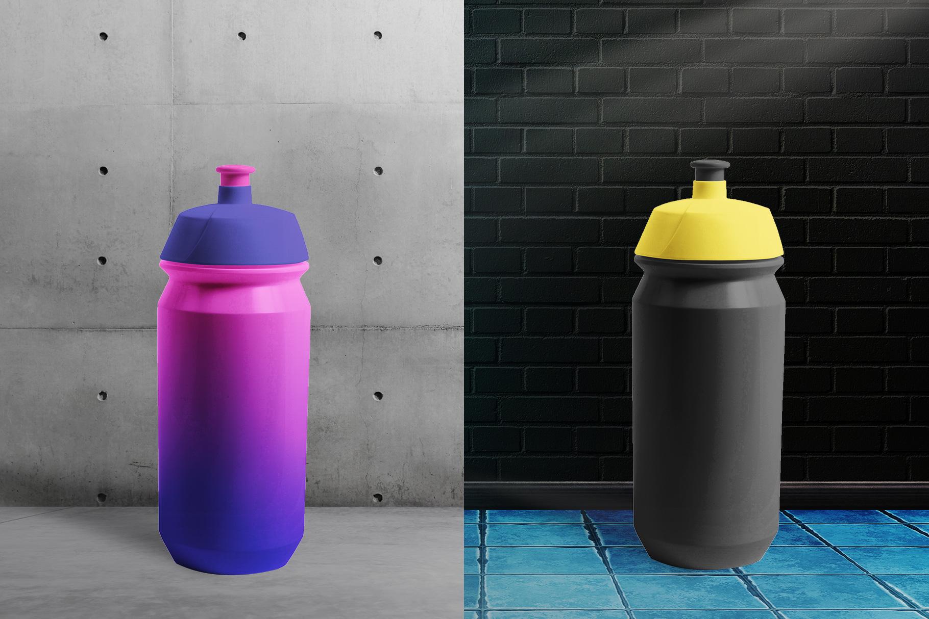 background options of the biker water bottle mockup