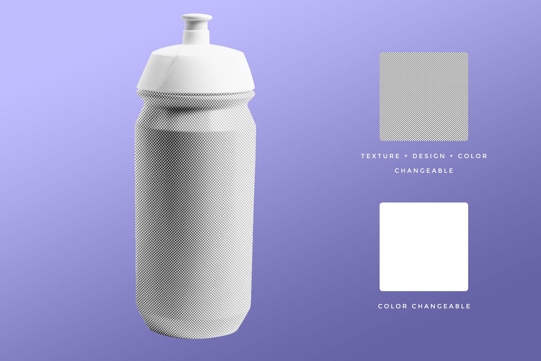 editability of the biker water bottle mockup