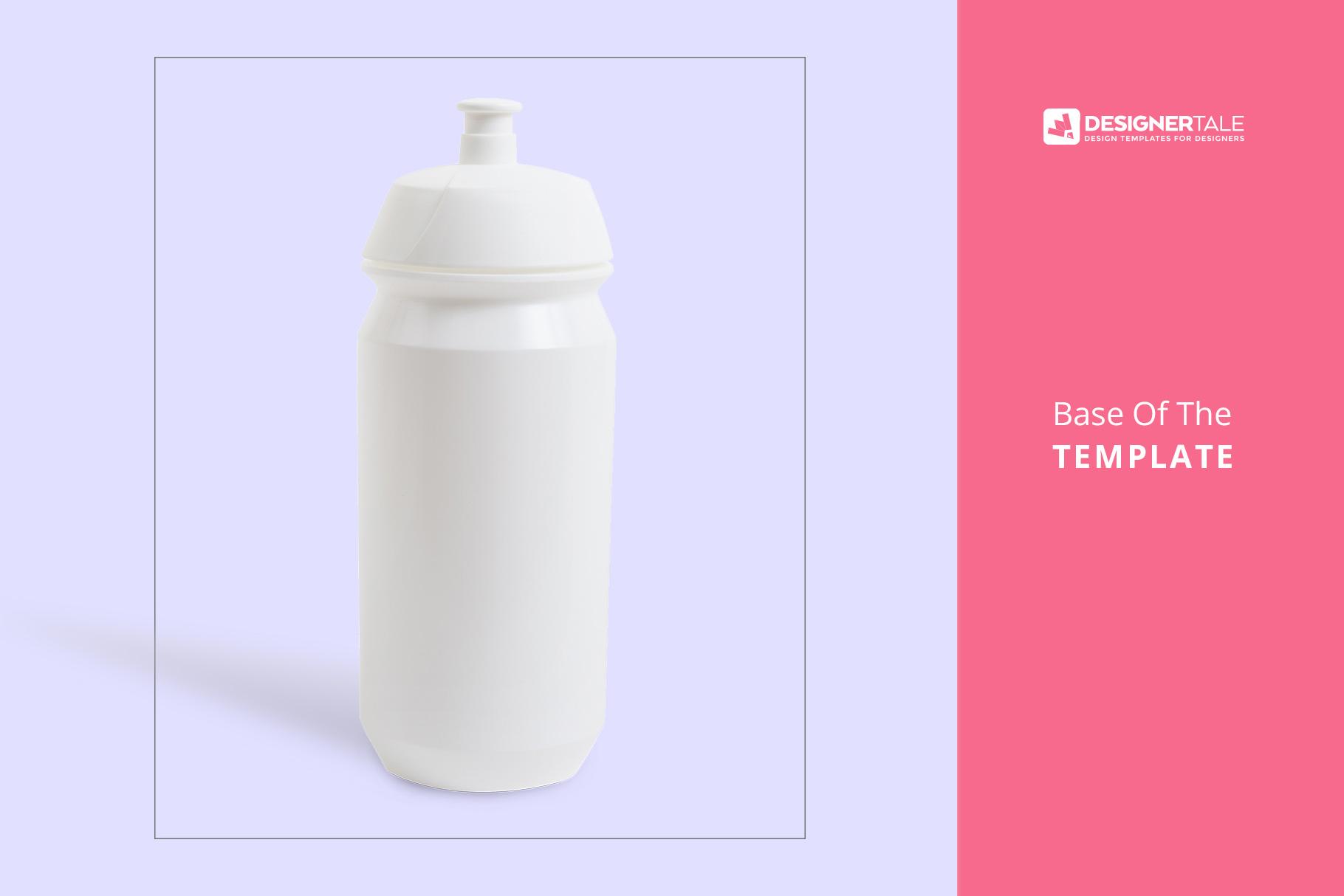 base image of the biker water bottle mockup