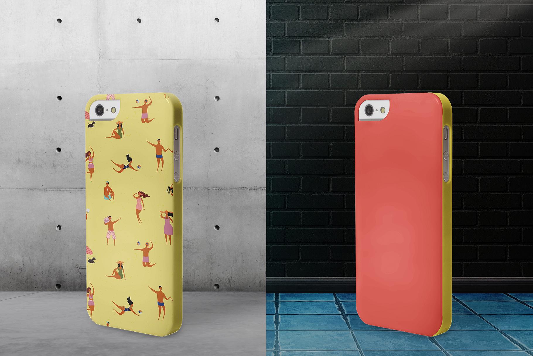 background options of the iphone snap backcase mockup