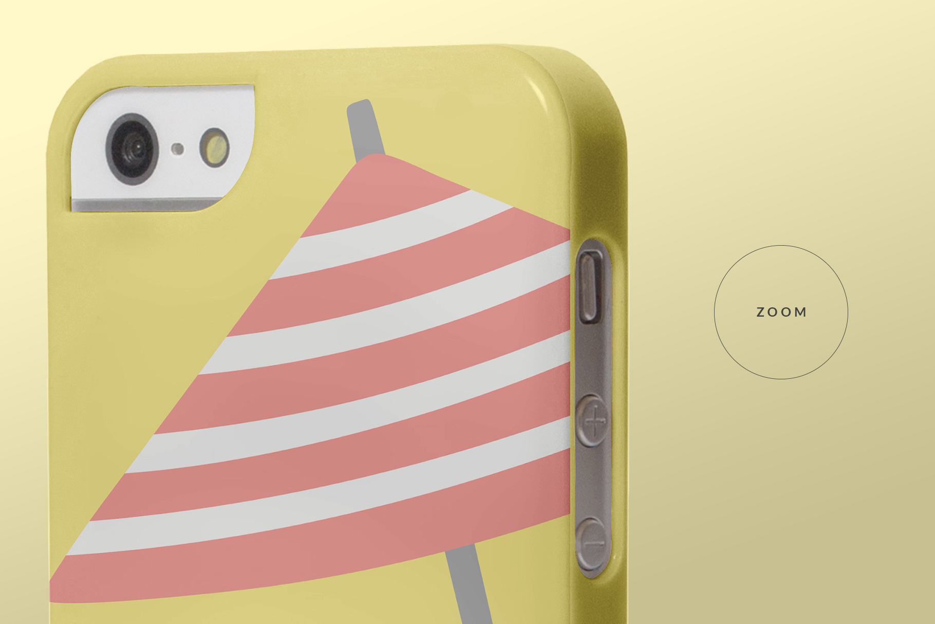 zoomed in image of the iphone snap backcase mockup