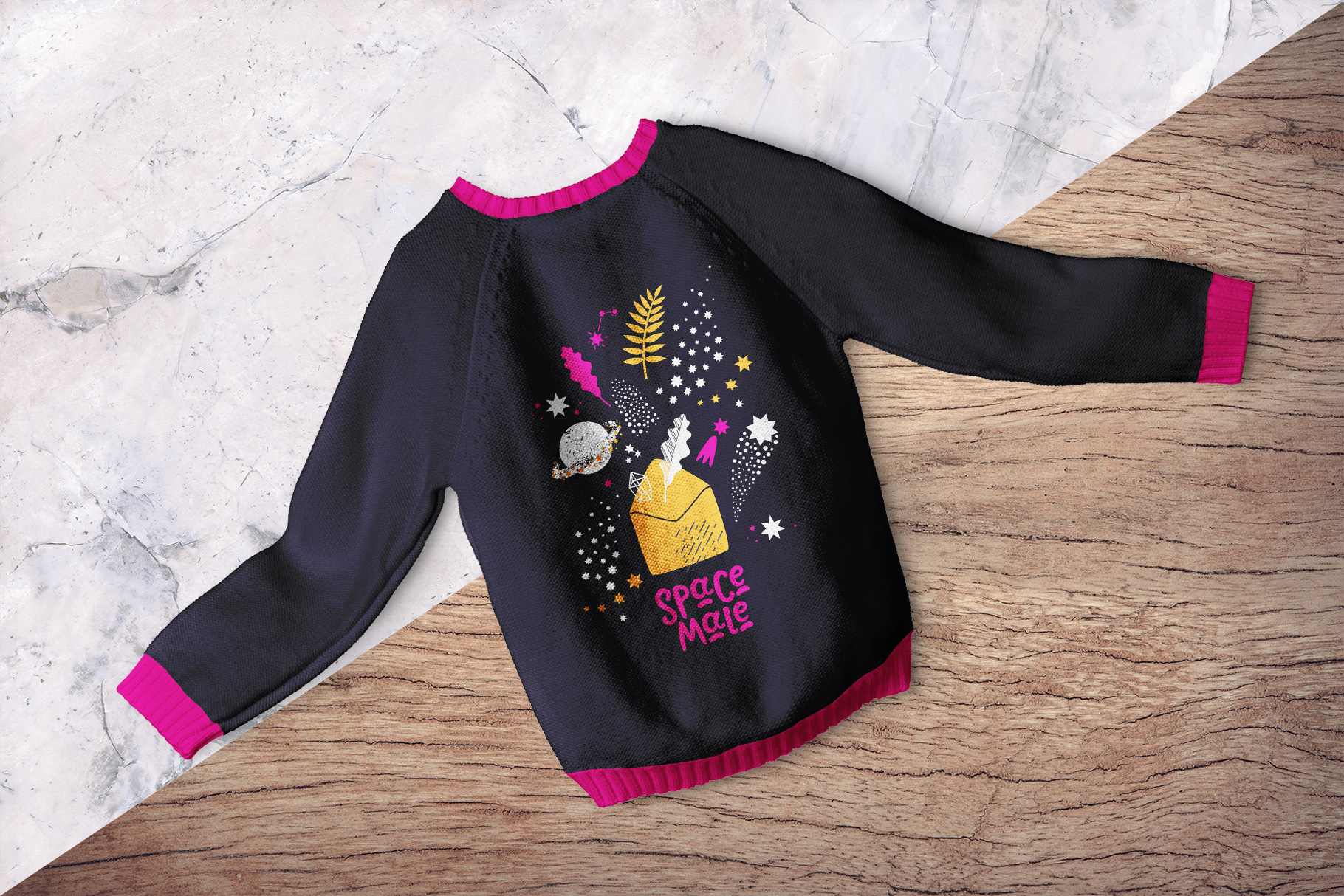 background options of the knitted kids jumper mockup