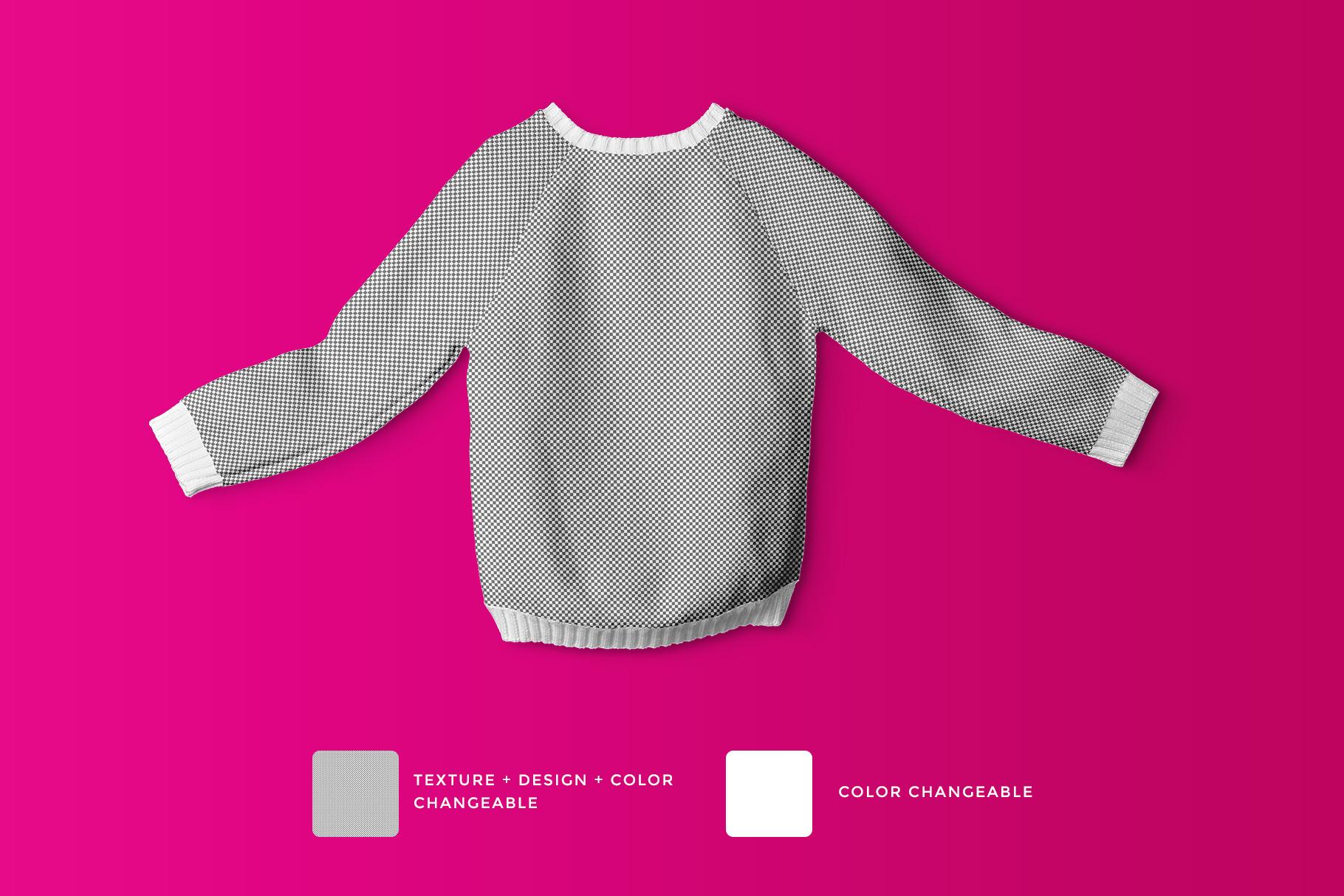 editability of the knitted kids jumper mockup