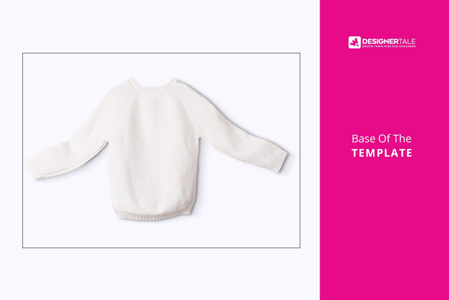 base image of the knitted kids jumper mockup