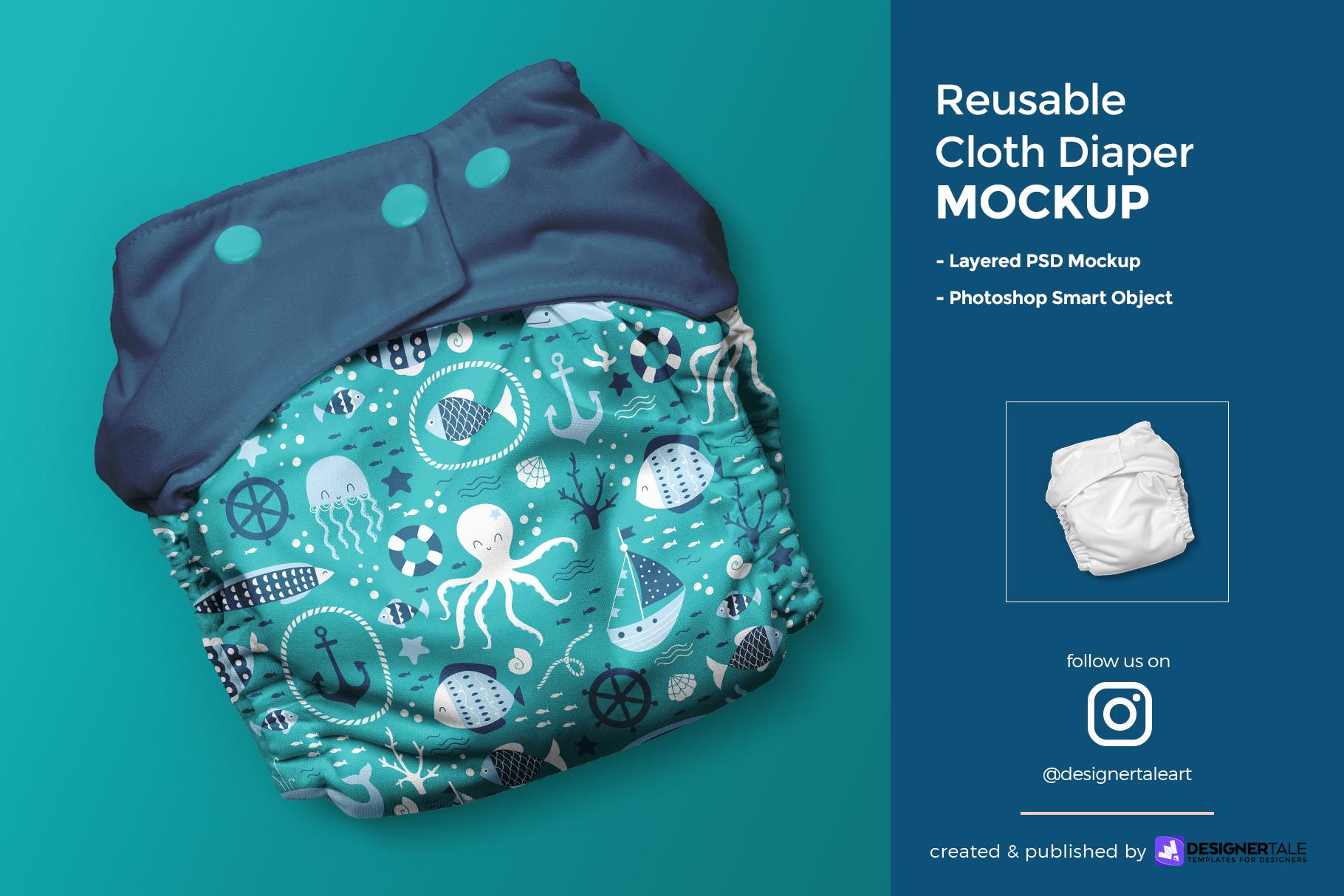 reusable cloth diaper mockup