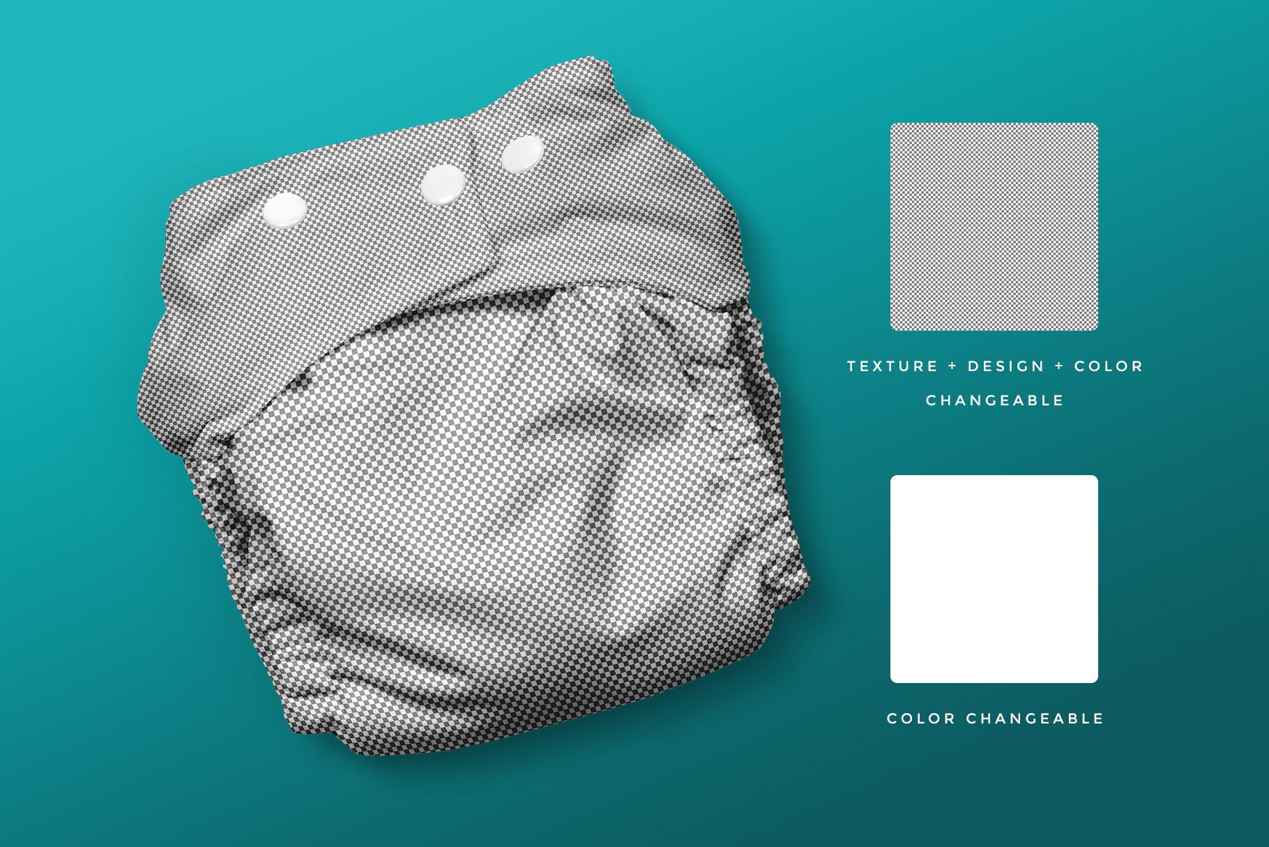 editability of the reusable cloth diaper mockup