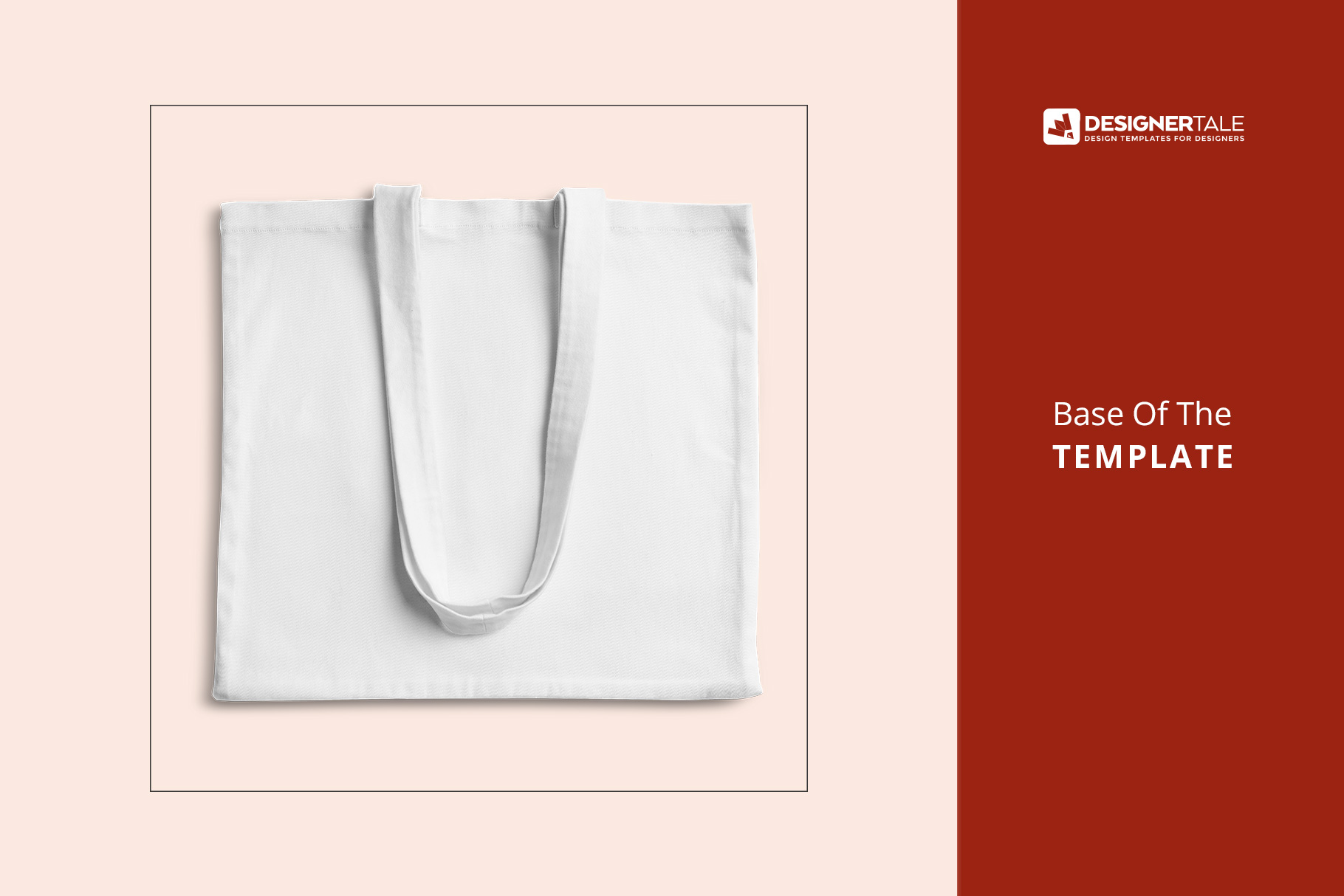 base image of the top view reusable cotton tote bag mockup