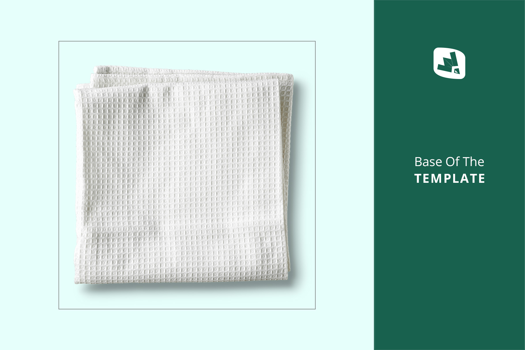 base image of the top view kitchen towel mockup