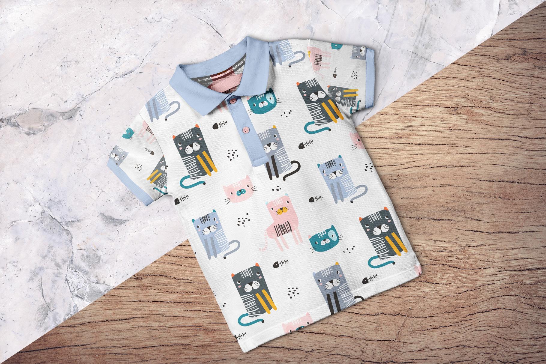 background options of the kid's half sleeve polo tshirt mockup
