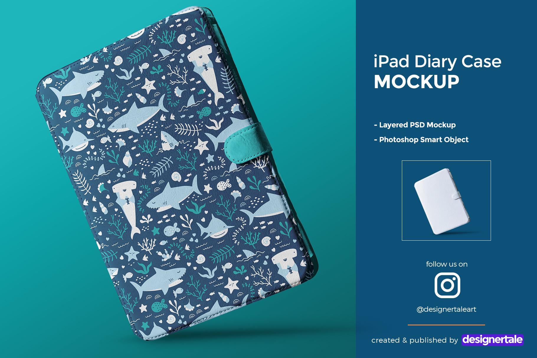 iPad diary case mockup