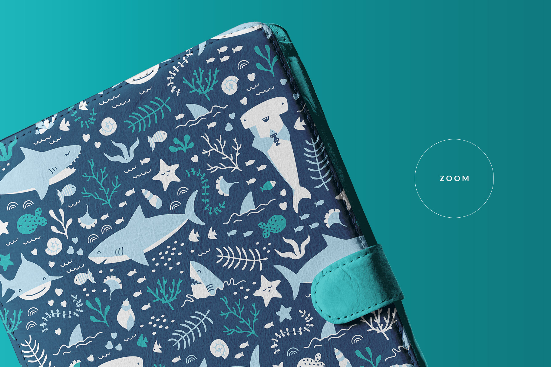 zoomed in image of the iPad diary case mockup