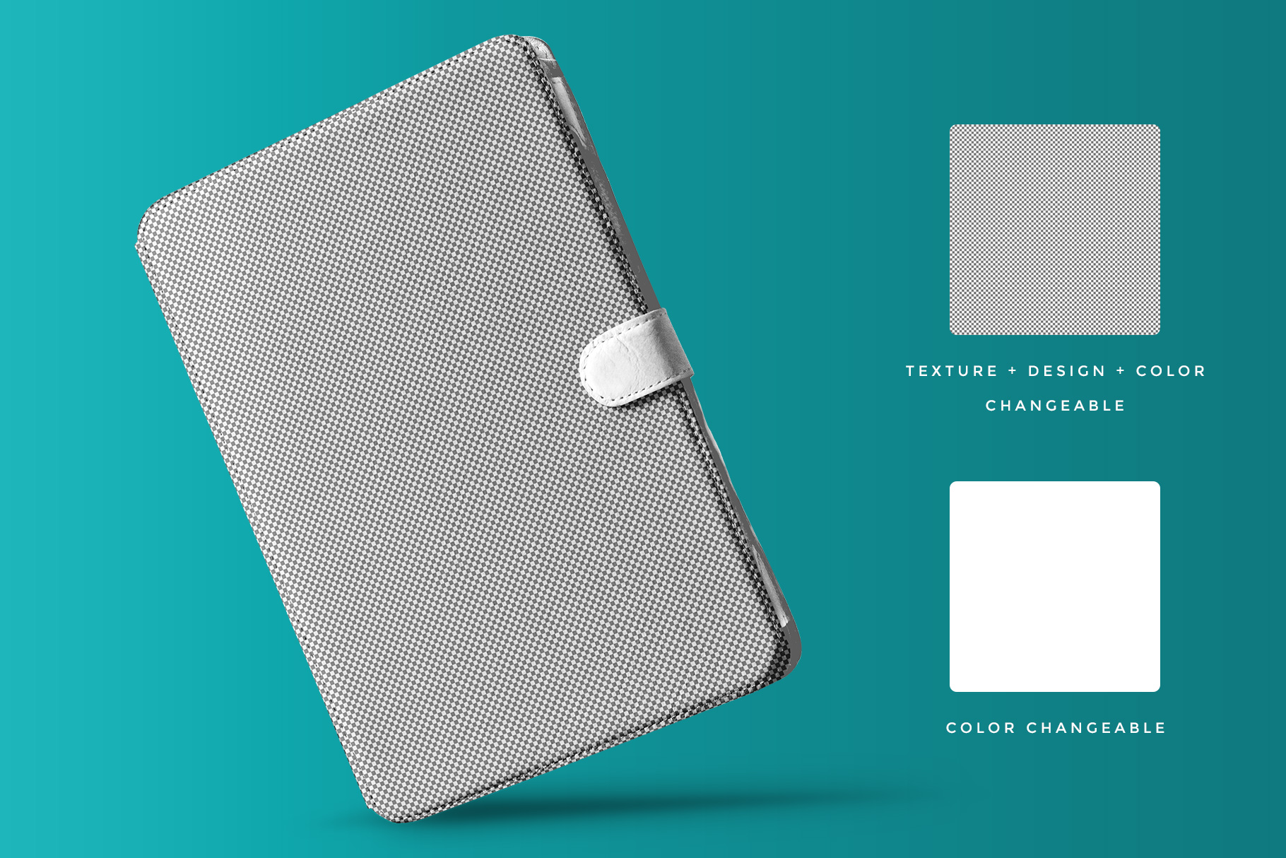 editability of the iPad diary case mockup
