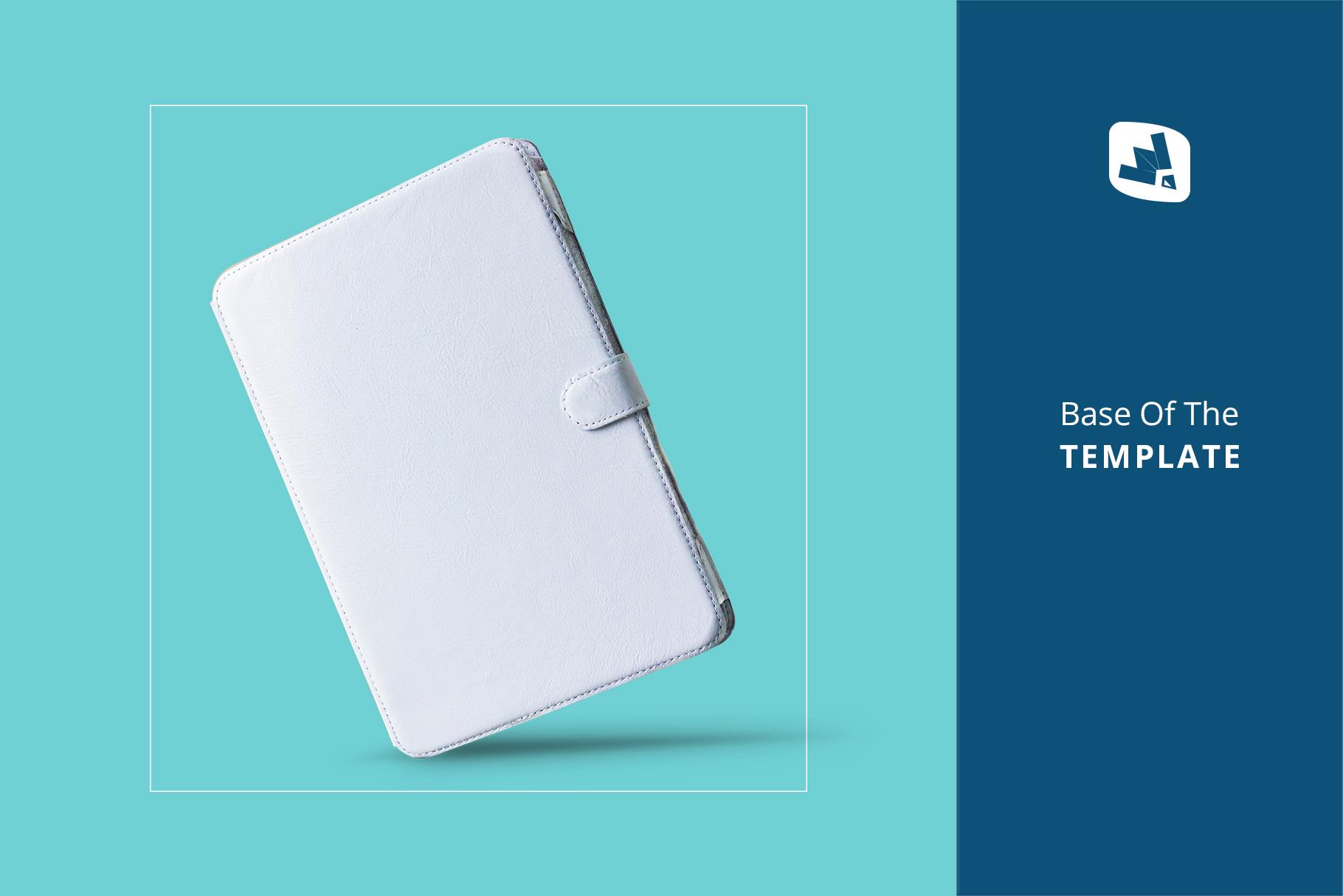 base image of the iPad diary case mockup