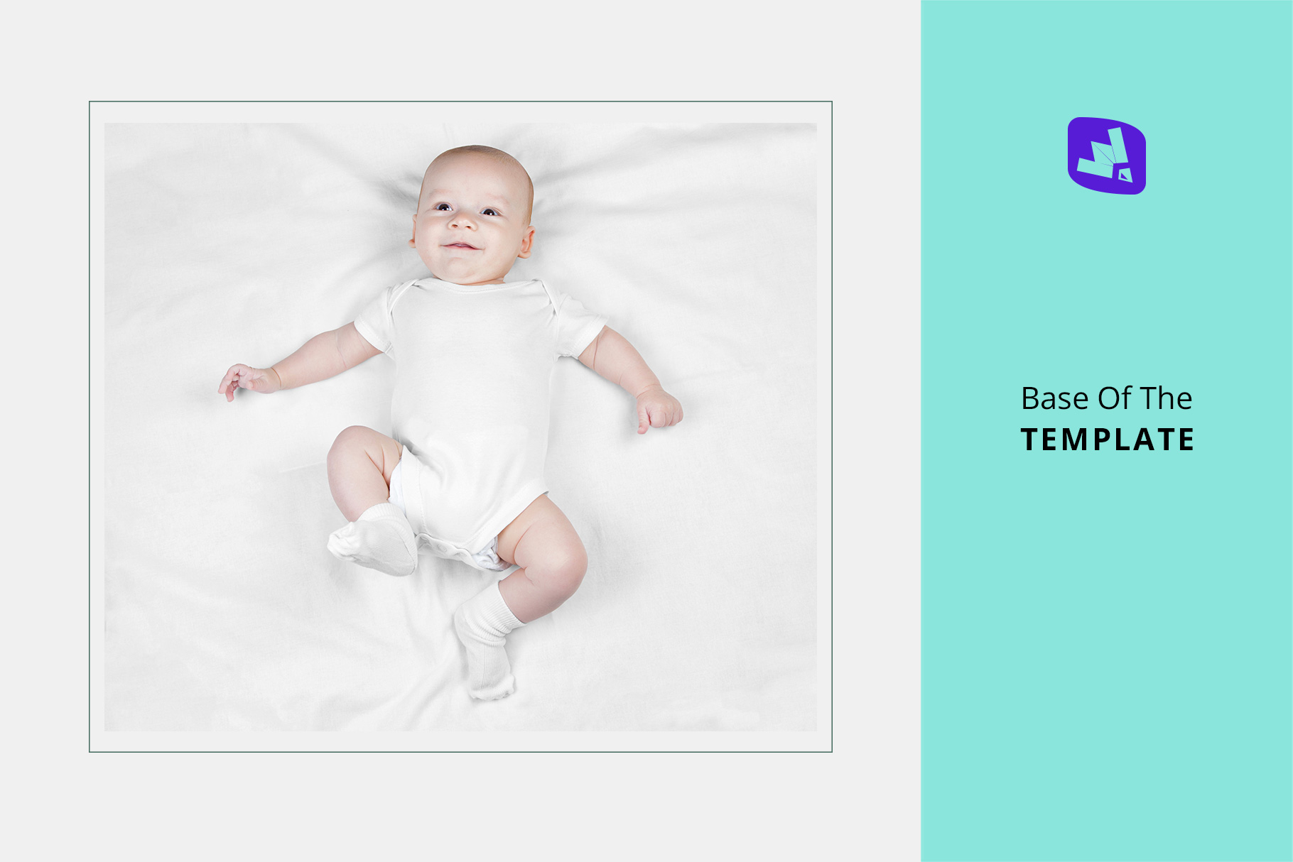 base image of the top view newborn baby outfit mockup
