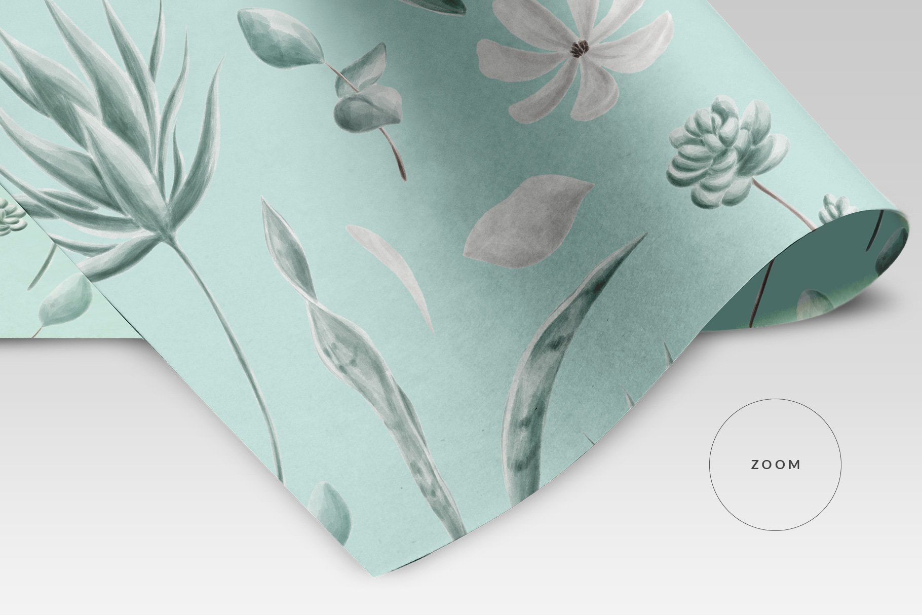 zoomed in image of the top view folded wrapping paper mockup