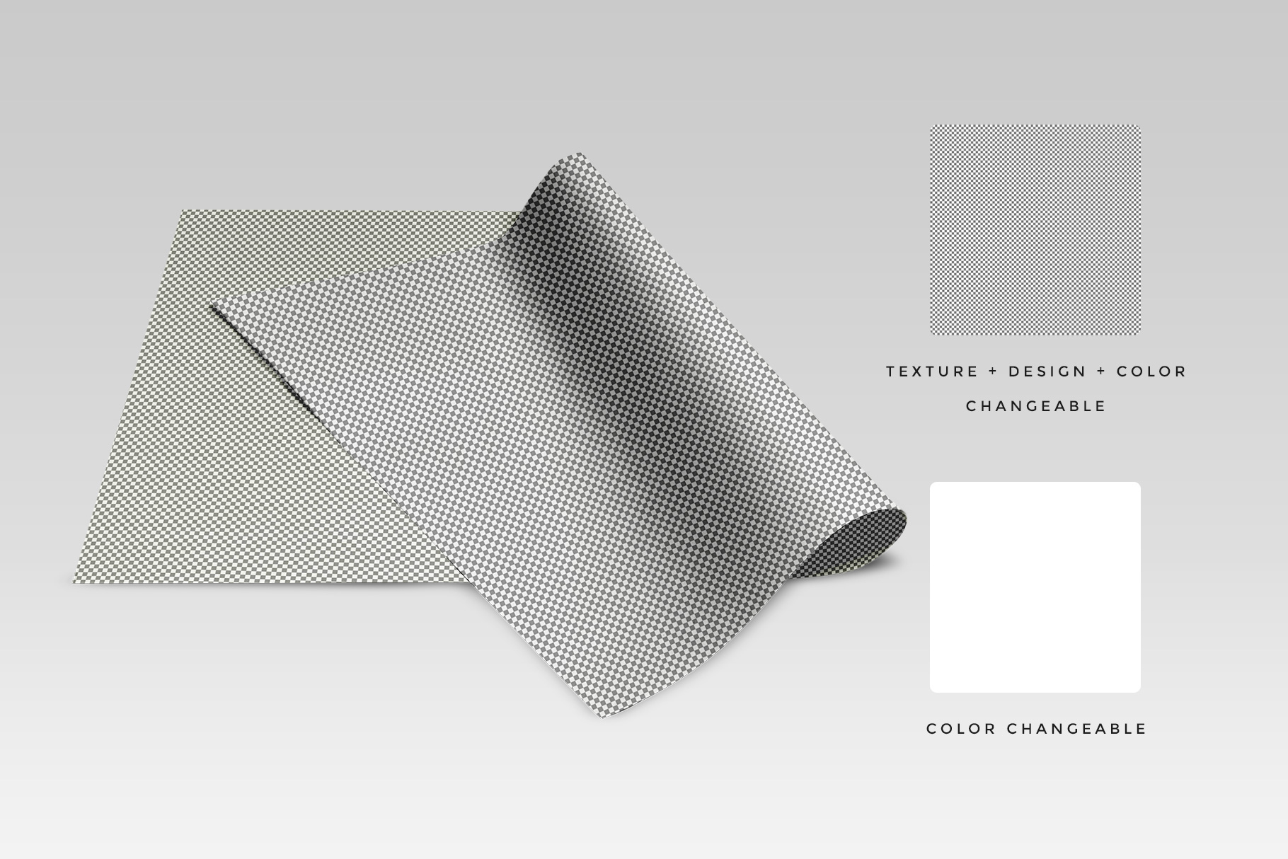 editability of the top view folded wrapping paper mockup