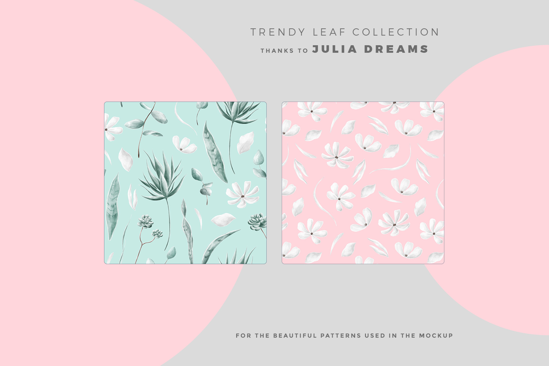 designer's credit of the top view folded wrapping paper mockup
