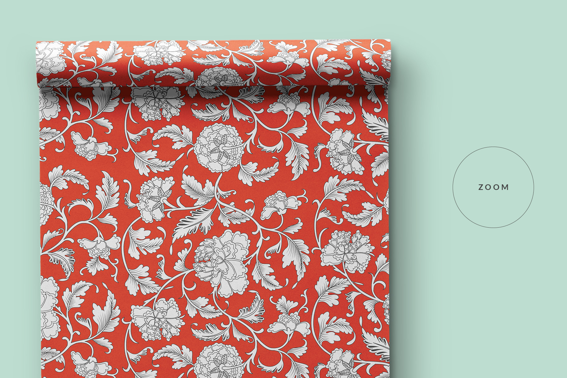 zoomed in image of the top view wrapping paper roll mockup