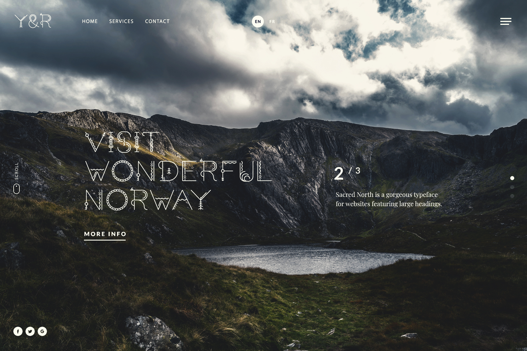 Website – Sacred North Typeface – Preview Image