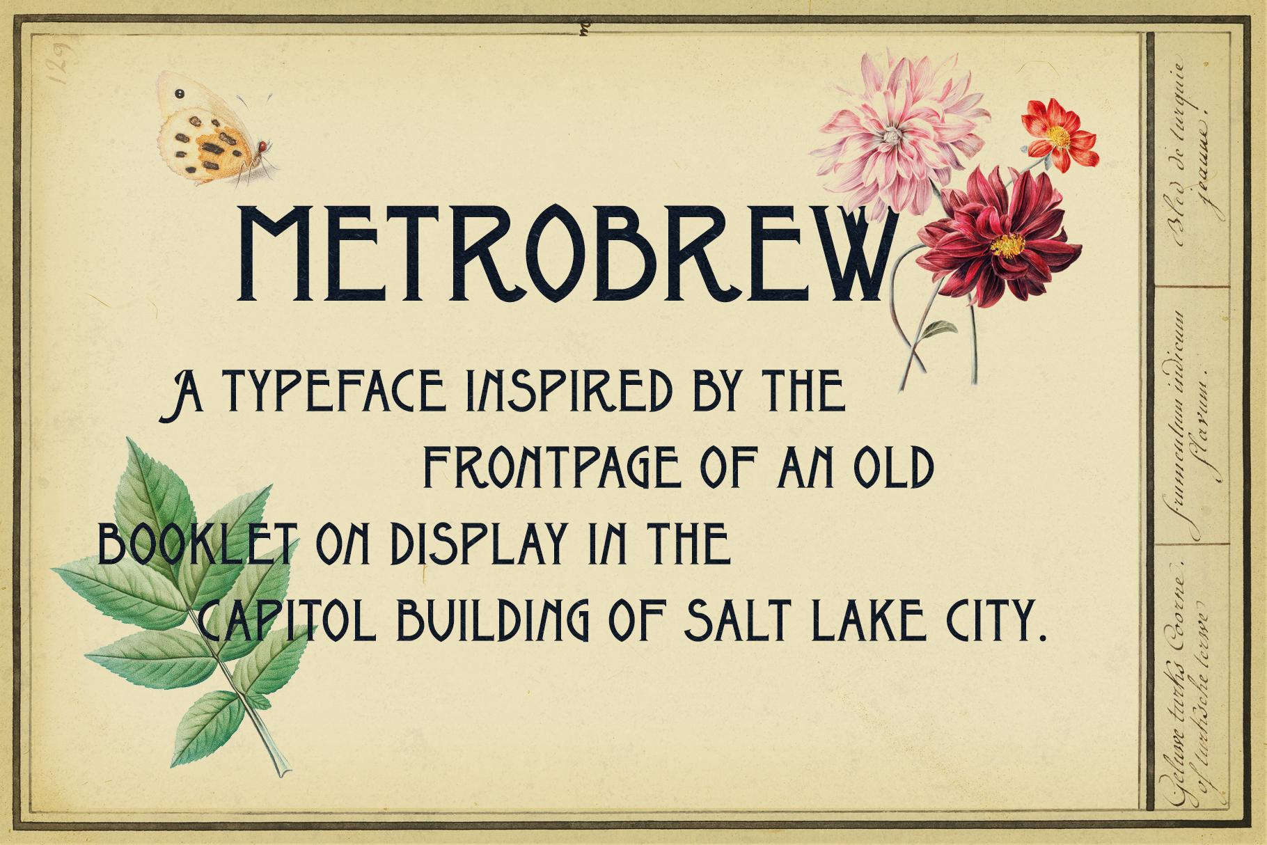 Metrobrew Vintage Font - 2 - preview V2 - 2