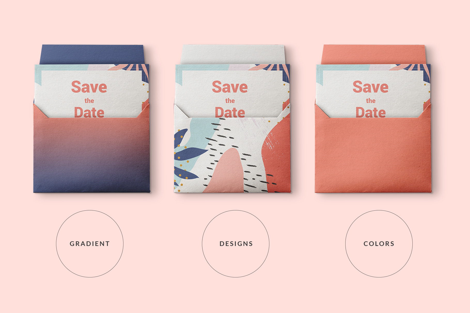Top View Open Envelope With Card Mockup | | Designertale