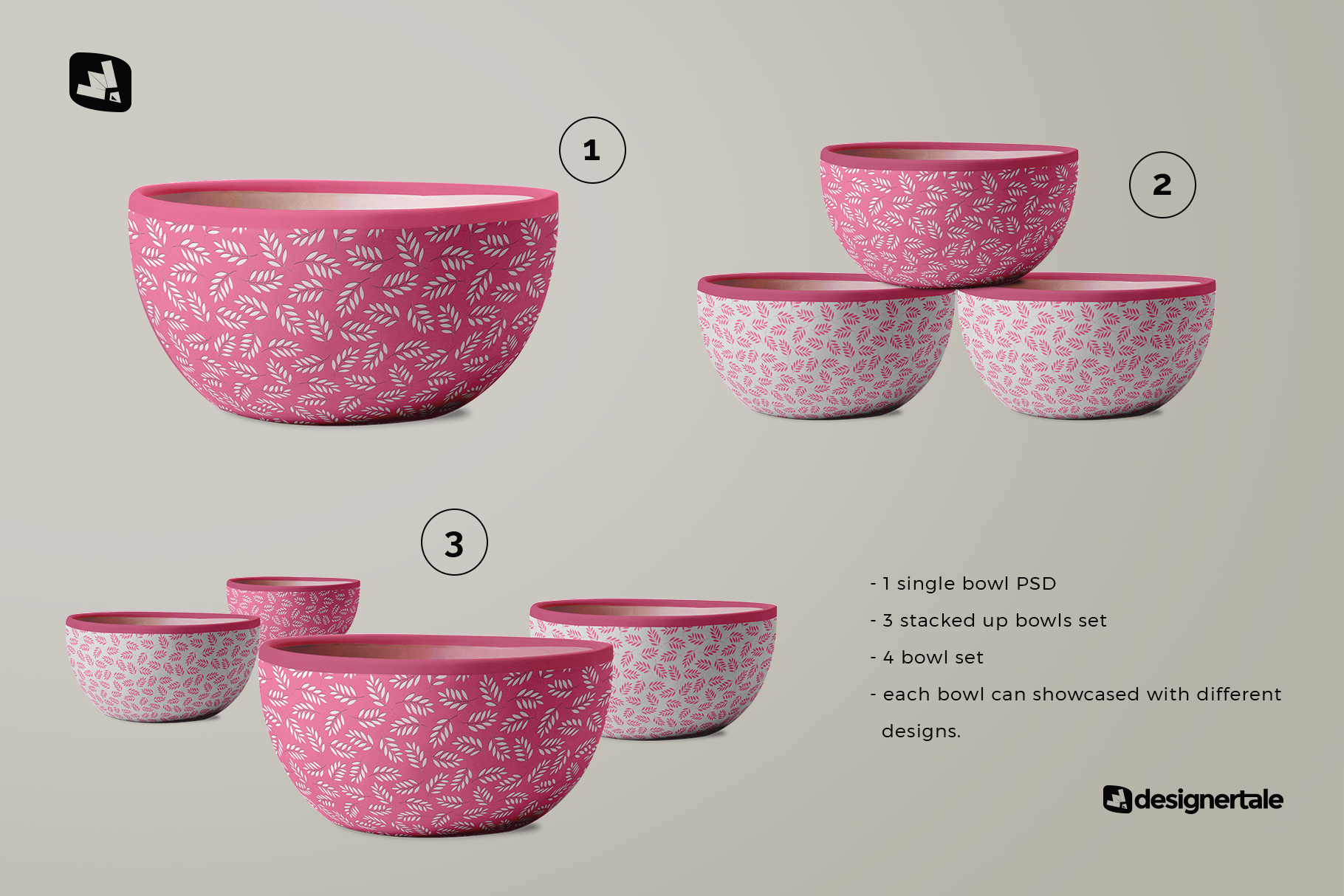 included files of the front view bowl mockup vol.1