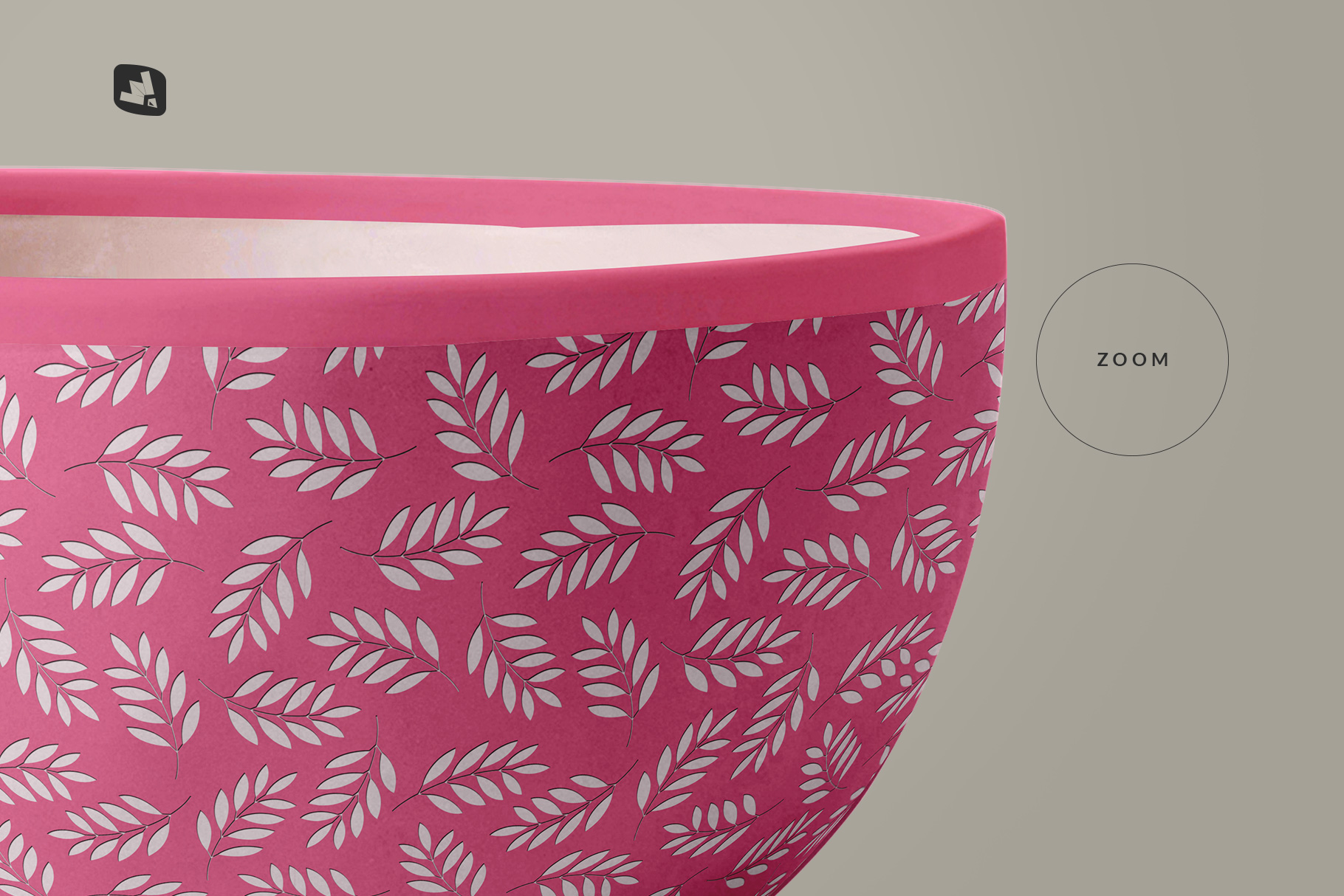 zoomed in image of the front view bowl mockup vol.1
