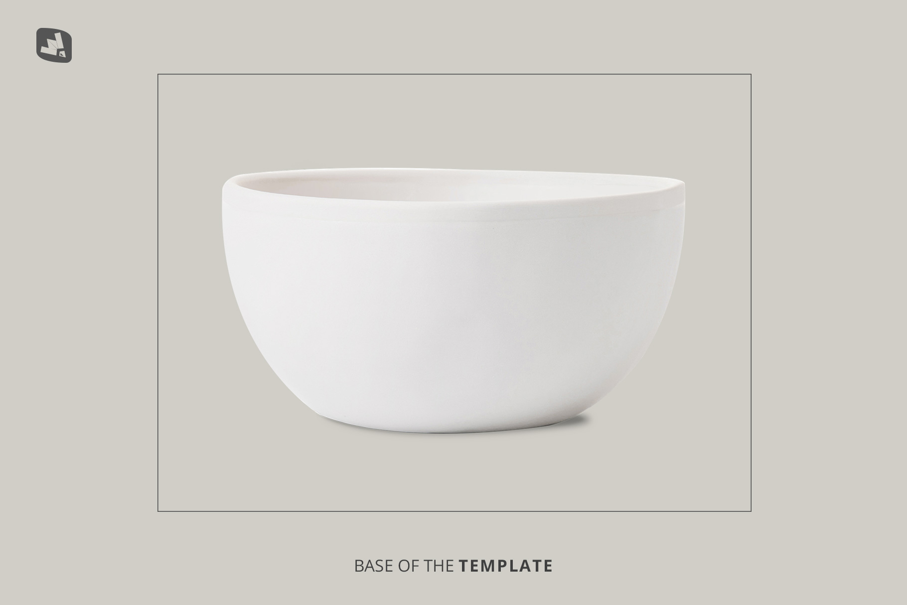 base image of the front view bowl mockup vol.1